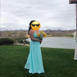 Tiffany blue long dress